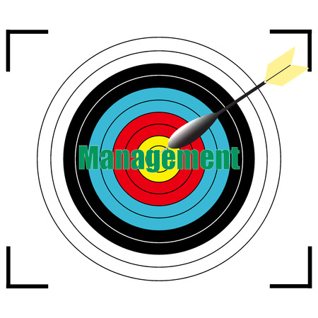 stakeholder: Management word Vector, business concept target for archery. Illustration