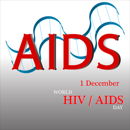 aids awareness ribbon: World AIDS Day. 1st December World Aids Day poster. Vector illustration.