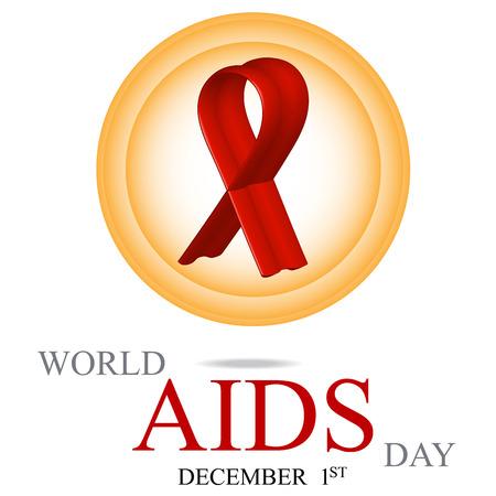 relaciones sexuales: Día mundial del SIDA. Cartel 1 ª de diciembre día mundial del SIDA. Ilustración del vector. Vectores