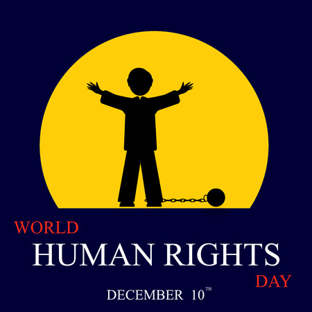 voting rights: International Human Rights Day. December 10th conceptual idea showing participation in social, economic, politic areas.