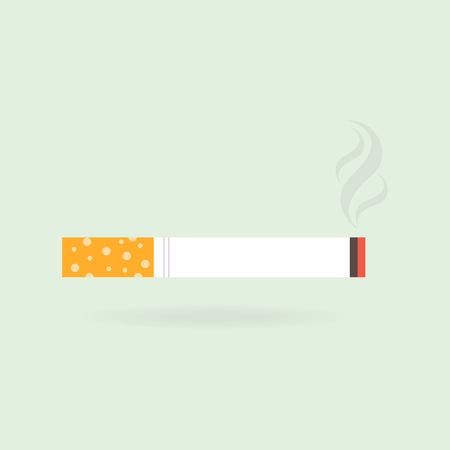 Cigarette with smoke icon. Vector Illustration EPS 10.