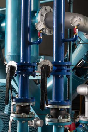High pressure hoses and valves for air compressor. Reklamní fotografie