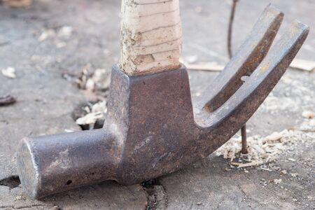 Hammer and nails Close Up. 写真素材
