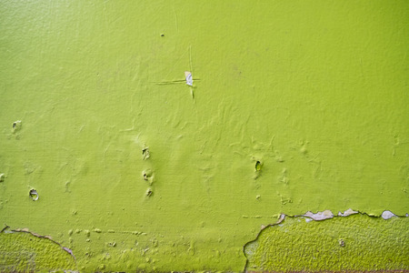 Cement wall green edges textured background. background of natural cement.