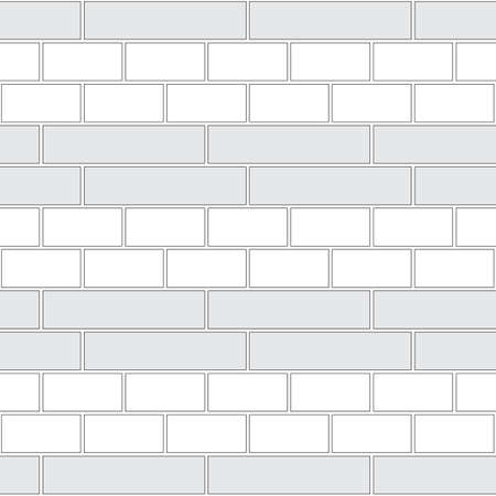 Brickwork texture seamless pattern. Decorative appearance of English brick bond. Double row masonry design. Seamless monochrome vector illustration.