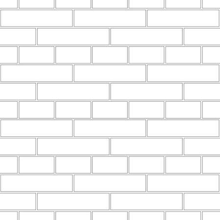 Brickwork texture seamless pattern. Simple appearance of English brick bond. Double row masonry design. Seamless monochrome vector illustration.