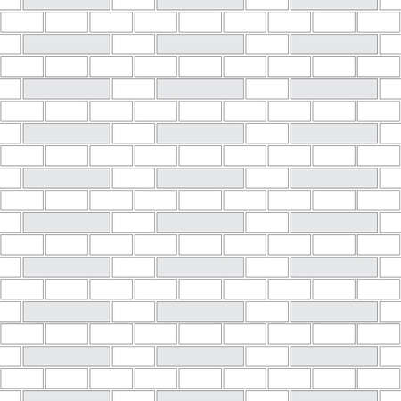 Brickwork texture seamless pattern. Decorative appearance of Holland brick bond. Traditional masonry design. Seamless monochrome vector illustration. 向量圖像