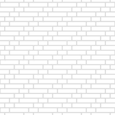 Brickwork texture seamless pattern. Simple appearance of Gothic brick bond. Ladder masonry design. Seamless monochrome vector illustration.