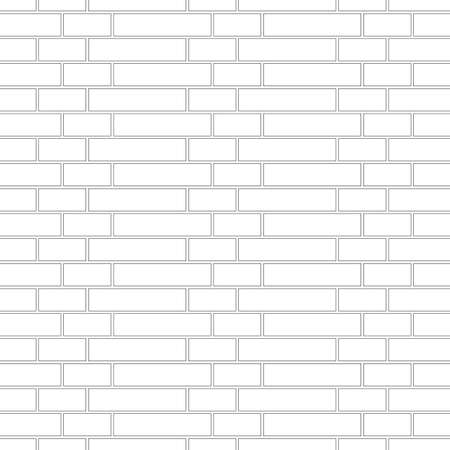 Brickwork texture seamless pattern. Simple appearance of Gothic brick bond. Traditional masonry design. Seamless monochrome vector illustration. 向量圖像