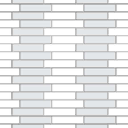Brickwork texture seamless pattern. Decorative appearance of Stretcher brick bond. Quarter shift masonry design. Seamless monochrome vector illustration.