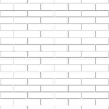 Brickwork texture seamless pattern. Simple appearance of Stretcher brick bond. Traditional masonry design. Seamless monochrome vector illustration.
