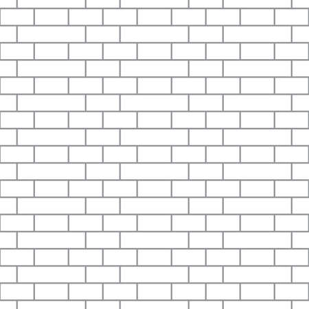 Brickwork texture seamless pattern. Simple appearance of Holland brick bond. Traditional masonry design. Seamless monochrome vector illustration.