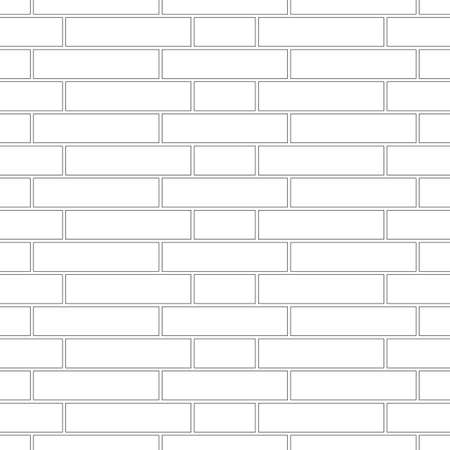 Brickwork texture seamless pattern. Simple appearance of Sussex brick bond. Traditional masonry design. Seamless monochrome vector illustration.