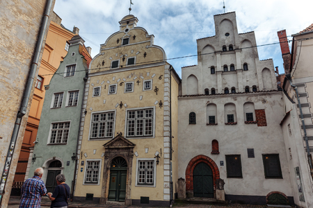 Riga. Three brothers buildings in the old town. 写真素材
