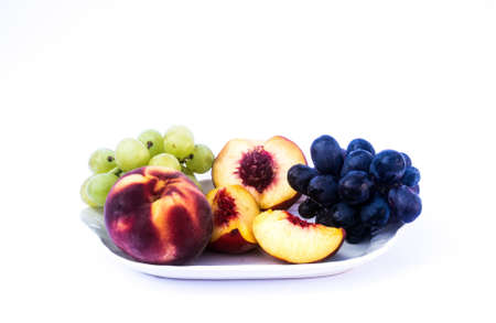 A plate of healthy, tasty and delicious fruit.