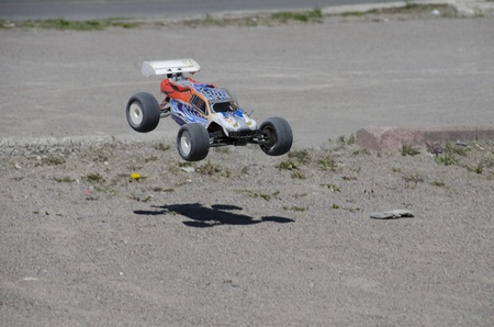 traction: RC Car Stock Photo