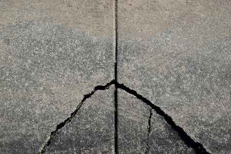 Cracked Concrete Path Stockfoto
