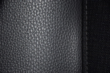Black Leather Texture on a Vehicle Seat