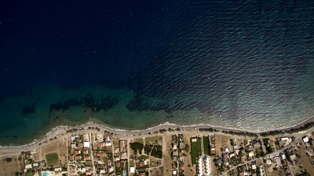 away from it all: sea beach from above