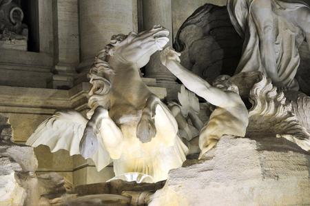 fontana: Fontana di trevi Rome Stock Photo