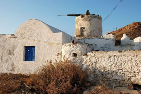 kyklades: windmill in Anafi