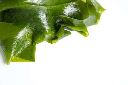 Fresh seaweed wakame isolated on white background. Japanese food