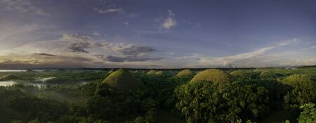 Sunrise at Chocolate Hills in Bohol Philippines