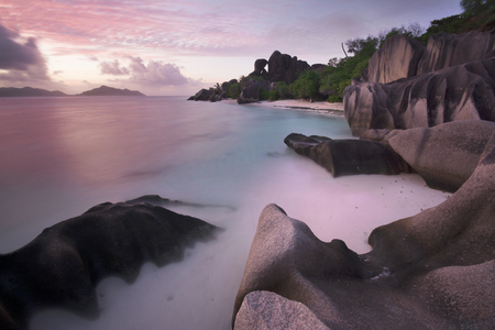 ices: Sunset at Anse Source Dargent