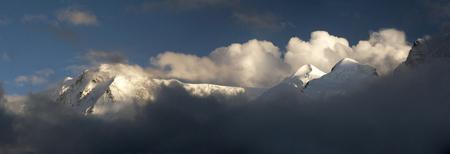ranges: Monte Rosa mountain ranges Stock Photo