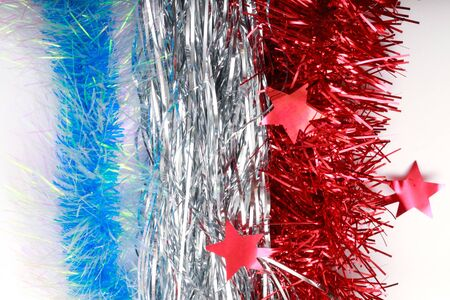 tinsel: flag of France from Christmas tinsel