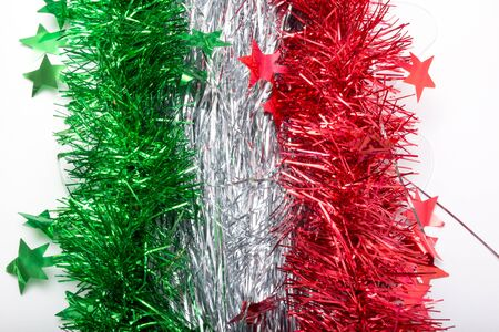 tinsel: flag of Italy from Christmas tinsel