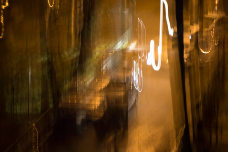 industry moody: Blurred abstract background evening street