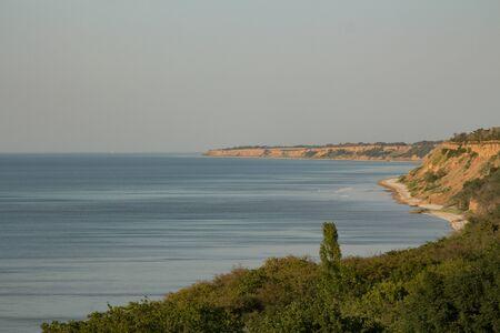 azov sea: Landscape coastline. Azov sea. Chumbur Spit. Stock Photo