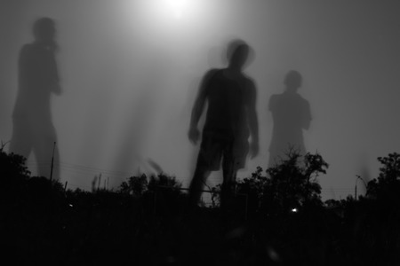 Fury moonlight. Shadows among the people.