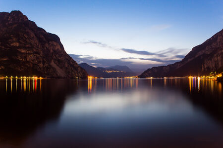 penumbra: Sunset and mountain