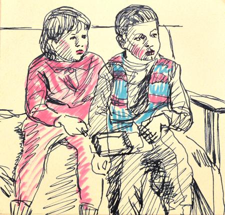 sitt: children see television