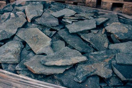 cladding: Green cladding stones Stock Photo