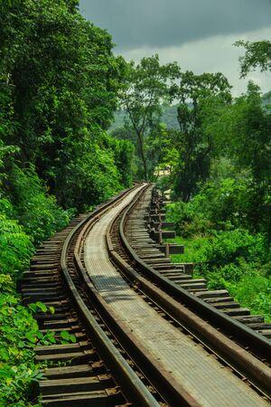 kanchanaburi: railway bridge in Kanchanaburi