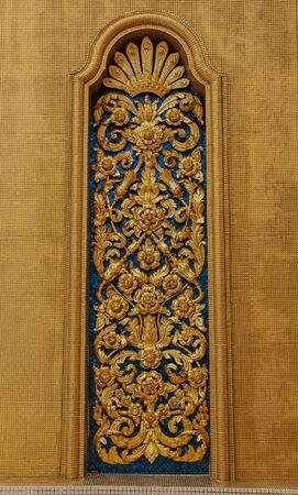 stucco: golden stucco