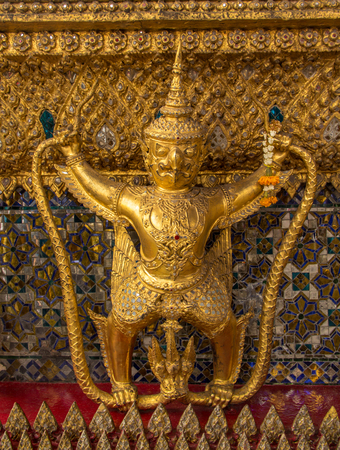 garuda: golden garuda decorate around temple Stock Photo