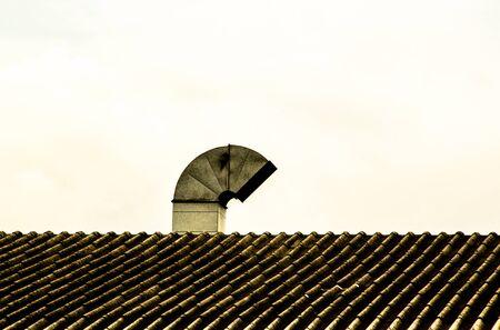 smokestack: a smokestack on the roof