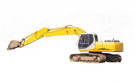 excavator isolated on white background