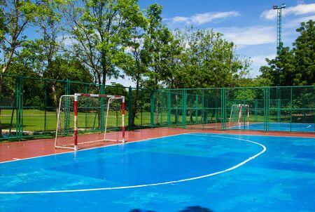 empty outdoor public outdoor futsal court Imagens