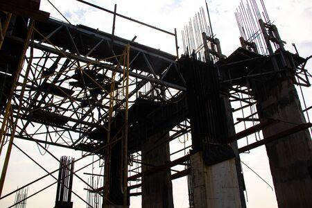 background of the construction site Banco de Imagens
