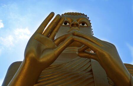 buddah: Statue of Golden Buddah in Dambulla, Sri Lanka. Stock Photo