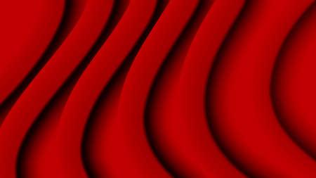 Red draped silk fabric texture. vector illustration Illustration