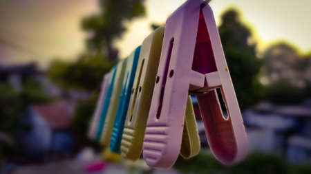 cloth clips Colorful multiple colours clothes clips