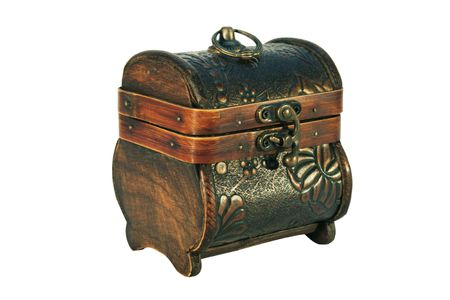 antique wooden chest  photo