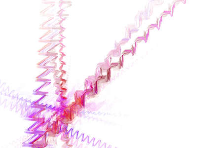 Abstract web from pink zig zag Stock Photo - 2466662