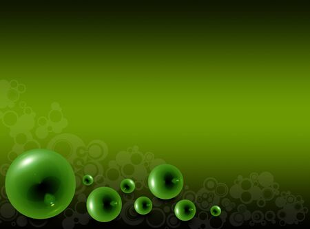 Green glass bubbles on a green background photo